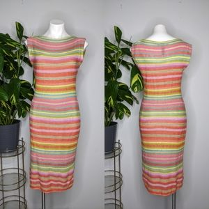 LRL colorful knit dress size S